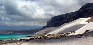 Sand dunes in Archer, Socotra, Yemen