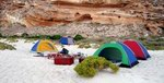 "10-day tour with overnight stops at ""wild"" camping sites"