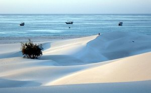 Sand dunes in Socotra