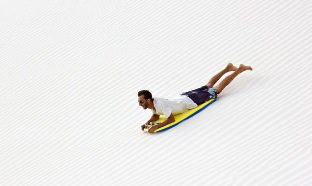 Sandboarding on Socotra island