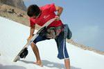 Sandboarding on Socotra