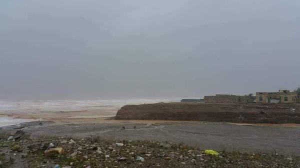 Tropical cyclone Mekunu near the island of Socotra